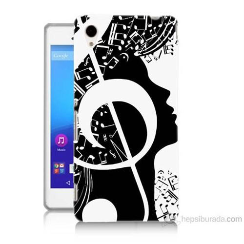 Teknomeg Sony Xperia M4 Aqua Notalar Baskılı Silikon Kılıf