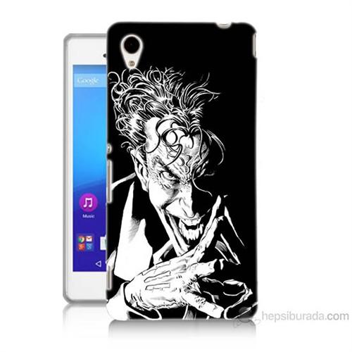 Teknomeg Sony Xperia M4 Aqua Gülen Joker Baskılı Silikon Kılıf
