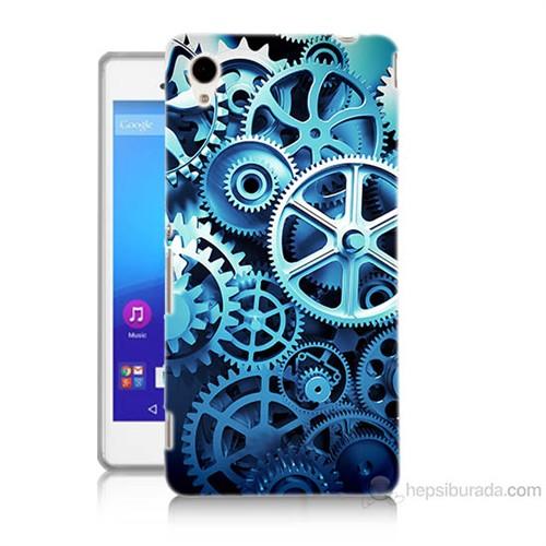 Teknomeg Sony Xperia M4 Aqua Çarklar Baskılı Silikon Kılıf