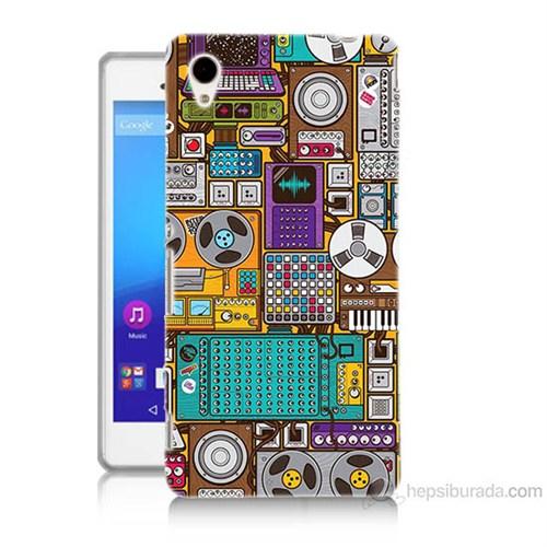 Teknomeg Sony Xperia M4 Aqua Teknoloji Baskılı Silikon Kılıf