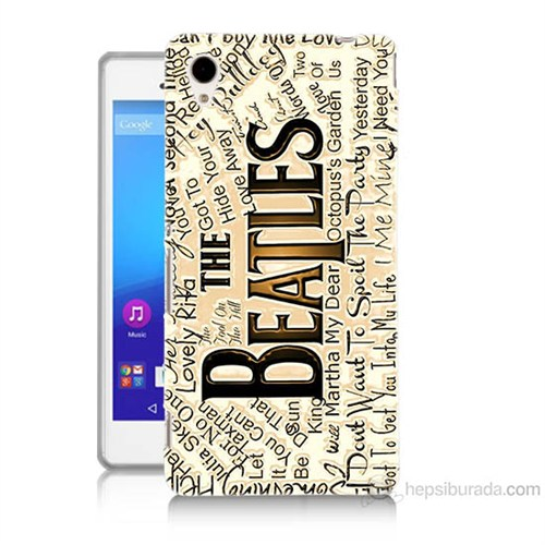 Teknomeg Sony Xperia M4 Aqua The Beatles Baskılı Silikon Kılıf