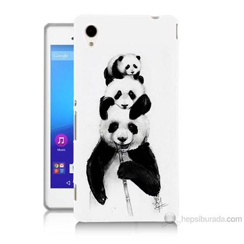 Teknomeg Sony Xperia M4 Aqua Panda Ailesi Baskılı Silikon Kılıf