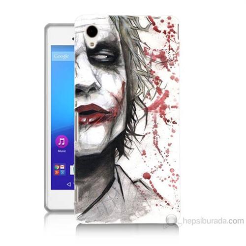 Teknomeg Sony Xperia M4 Aqua Kanlı Joker Baskılı Silikon Kılıf