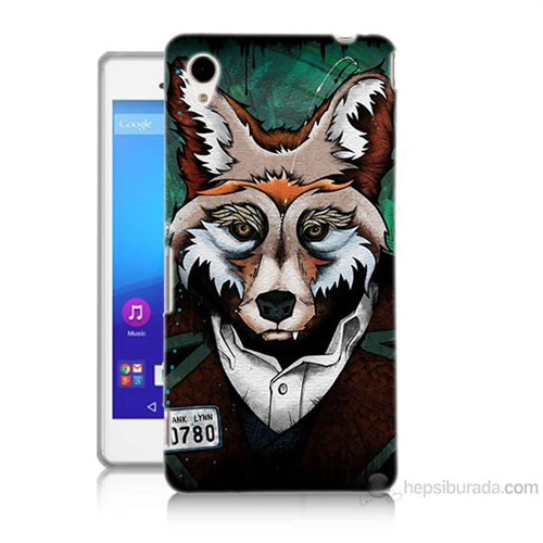 Teknomeg Sony Xperia M4 Aqua Bad Wolf Baskılı Silikon Kılıf