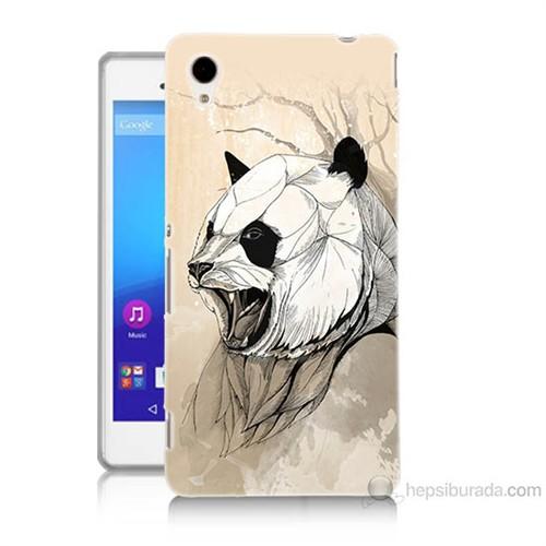 Teknomeg Sony Xperia M4 Aqua Kavgacı Panda Baskılı Silikon Kılıf