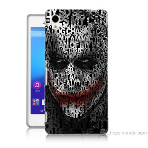 Teknomeg Sony Xperia M4 Aqua Joker Baskılı Silikon Kılıf