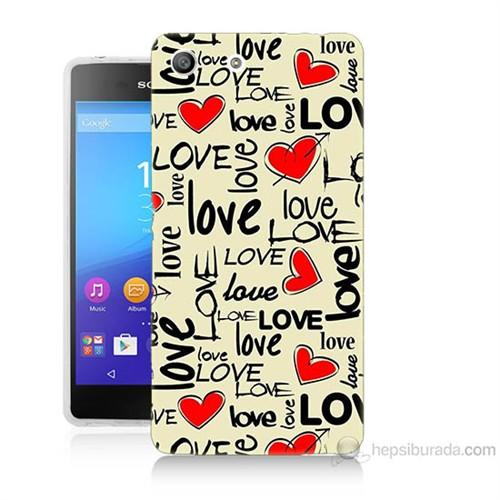 Teknomeg Sony Xperia M5 Love Baskılı Silikon Kılıf