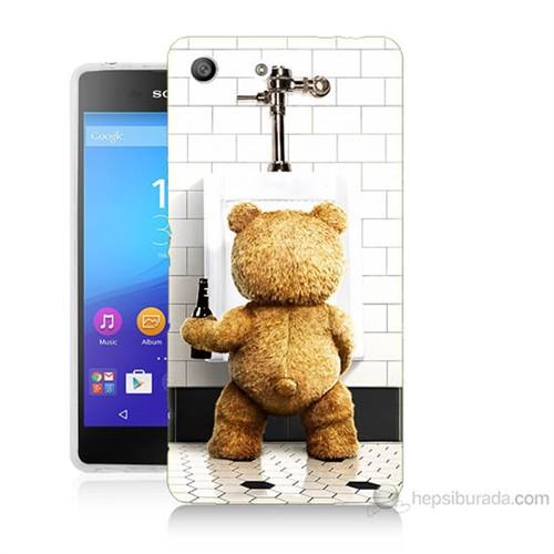 Teknomeg Sony Xperia M5 Tedy Bear Baskılı Silikon Kılıf