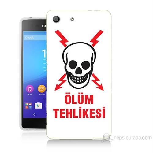 Teknomeg Sony Xperia M5 Ölüm Tehlikesi Baskılı Silikon Kılıf