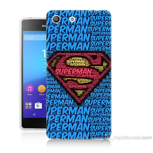 Teknomeg Sony Xperia M5 Süpermen Baskılı Silikon Kılıf