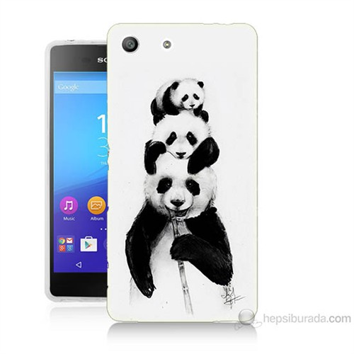 Teknomeg Sony Xperia M5 Panda Ailesi Baskılı Silikon Kılıf