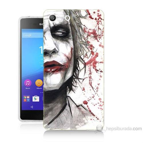 Teknomeg Sony Xperia M5 Kanlı Joker Baskılı Silikon Kılıf