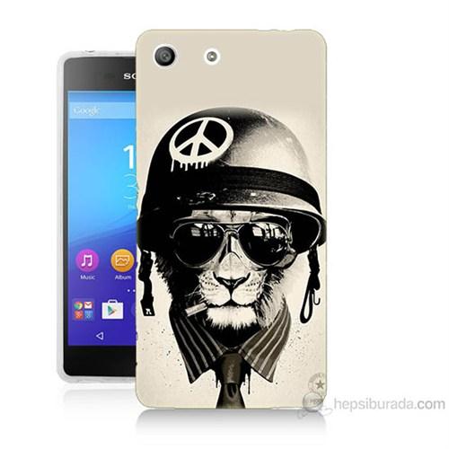 Teknomeg Sony Xperia M5 Barışçı Aslan Baskılı Silikon Kılıf