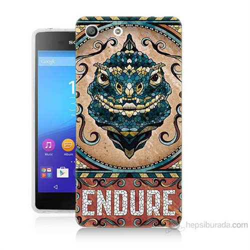 Teknomeg Sony Xperia M5 Endure Baskılı Silikon Kılıf