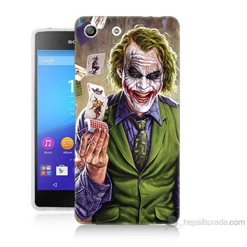 Teknomeg Sony Xperia M5 Kartlı Joker Baskılı Silikon Kılıf
