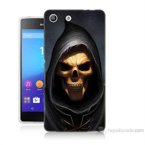 Teknomeg Sony Xperia M5 Ölüm Meleği Baskılı Silikon Kılıf