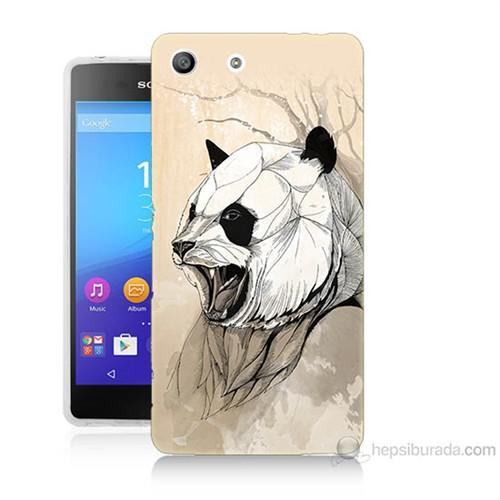 Teknomeg Sony Xperia M5 Kavgacı Panda Baskılı Silikon Kılıf
