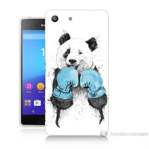 Teknomeg Sony Xperia M5 Boksör Panda Baskılı Silikon Kılıf