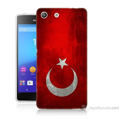 Teknomeg Sony Xperia M5 Türkiye Bayrağı Baskılı Silikon Kılıf