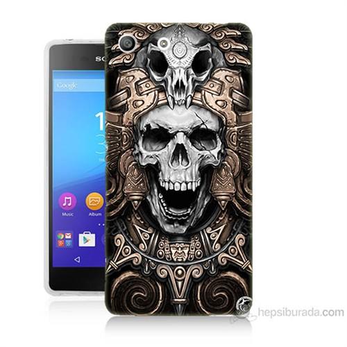 Teknomeg Sony Xperia M5 Kafatası Krallığı Baskılı Silikon Kılıf