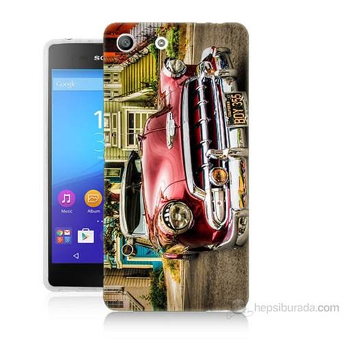 Teknomeg Sony Xperia M5 Klasik Araba Baskılı Silikon Kılıf