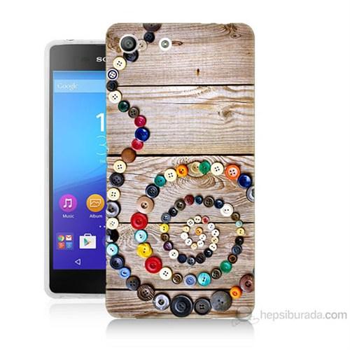 Teknomeg Sony Xperia M5 Düğmeler Baskılı Silikon Kılıf