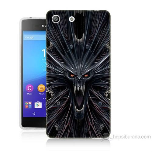 Teknomeg Sony Xperia M5 Korku Canavarı Baskılı Silikon Kılıf