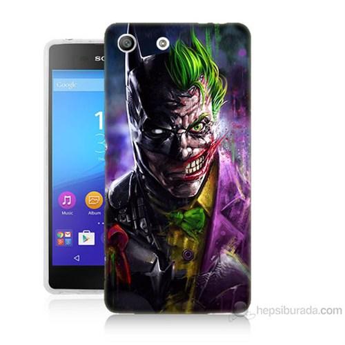 Teknomeg Sony Xperia M5 Batman Vs Joker Baskılı Silikon Kılıf