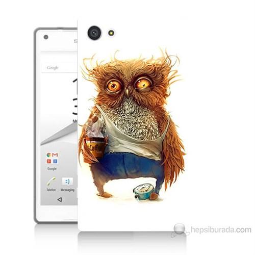 Teknomeg Sony Xperia Z5 Miskin Baykuş Baskılı Silikon Kılıf