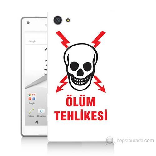 Teknomeg Sony Xperia Z5 Ölüm Tehlikesi Baskılı Silikon Kılıf