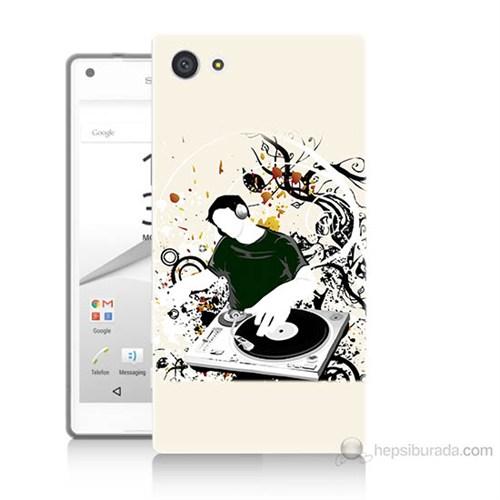 Teknomeg Sony Xperia Z5 Disc Jokey Baskılı Silikon Kılıf