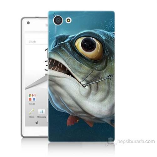 Teknomeg Sony Xperia Z5 Balık Baskılı Silikon Kılıf