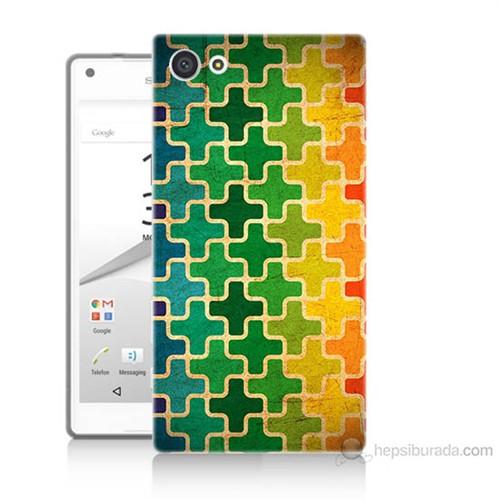 Teknomeg Sony Xperia Z5 Renkli Artı Baskılı Silikon Kılıf