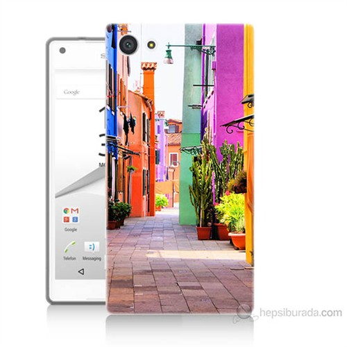Teknomeg Sony Xperia Z5 Sokak Baskılı Silikon Kılıf