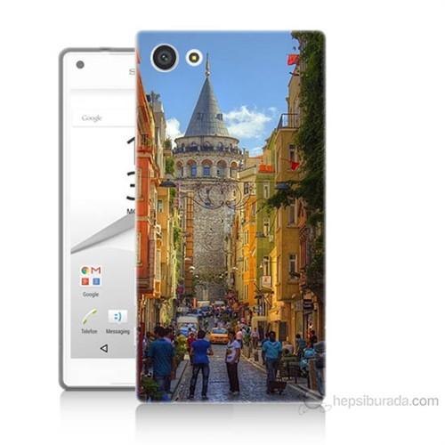 Teknomeg Sony Xperia Z5 Galata Kulesi Baskılı Silikon Kılıf