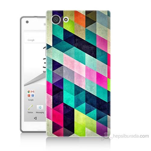 Teknomeg Sony Xperia Z5 Mozaikler Baskılı Silikon Kılıf