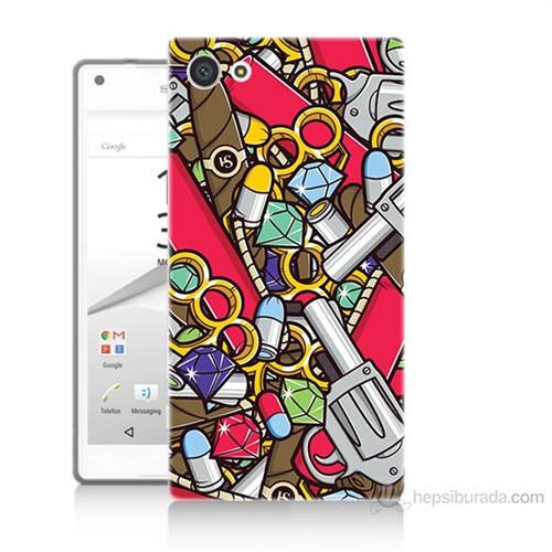Teknomeg Sony Xperia Z5 Cephane Baskılı Silikon Kılıf