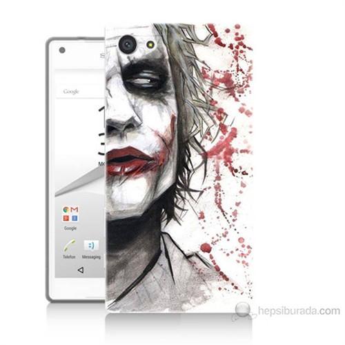 Teknomeg Sony Xperia Z5 Kanlı Joker Baskılı Silikon Kılıf