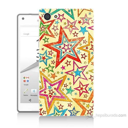 Teknomeg Sony Xperia Z5 Yıldızlar Baskılı Silikon Kılıf