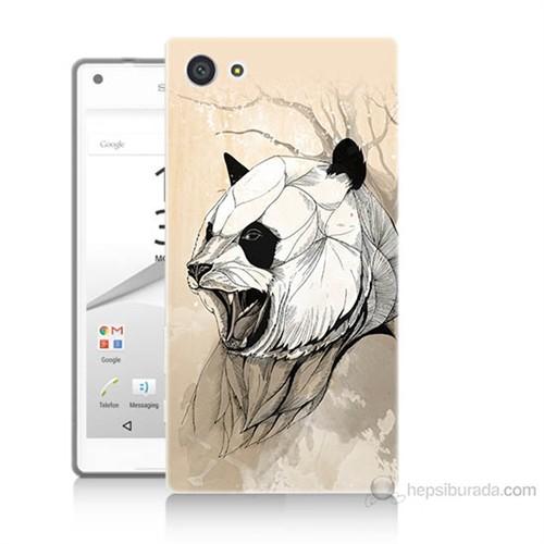 Teknomeg Sony Xperia Z5 Kavgacı Panda Baskılı Silikon Kılıf