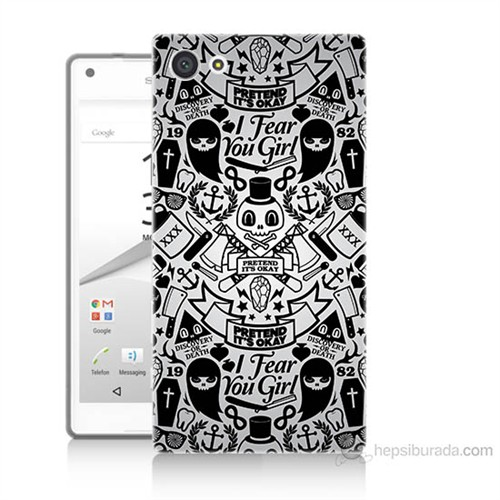 Teknomeg Sony Xperia Z5 Karikatür Baskılı Silikon Kılıf