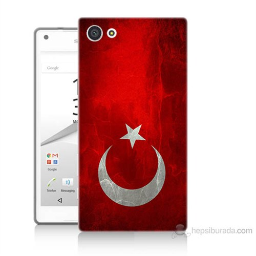 Teknomeg Sony Xperia Z5 Türkiye Bayrağı Baskılı Silikon Kılıf