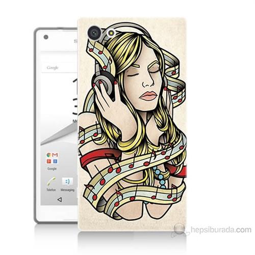Teknomeg Sony Xperia Z5 Müzik Aşkı Baskılı Silikon Kılıf