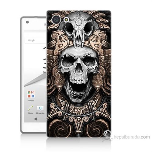 Teknomeg Sony Xperia Z5 Kafatası Krallığı Baskılı Silikon Kılıf