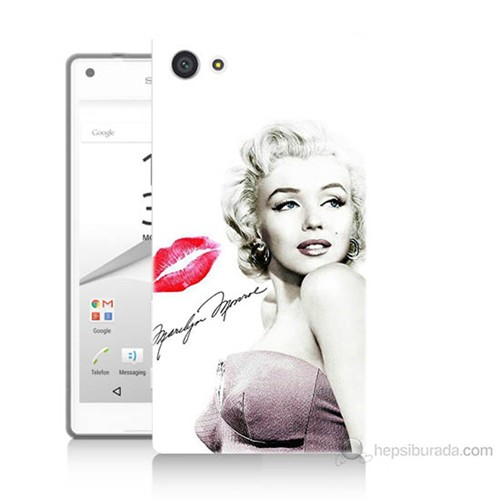 Teknomeg Sony Xperia Z5 Marilyn Monroe Baskılı Silikon Kılıf