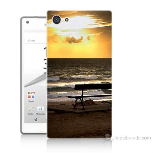 Teknomeg Sony Xperia Z5 Gün Batımı Baskılı Silikon Kılıf