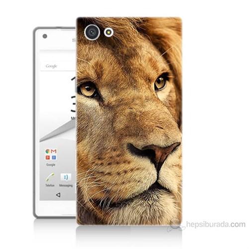Teknomeg Sony Xperia Z5 Aslan Baskılı Silikon Kılıf
