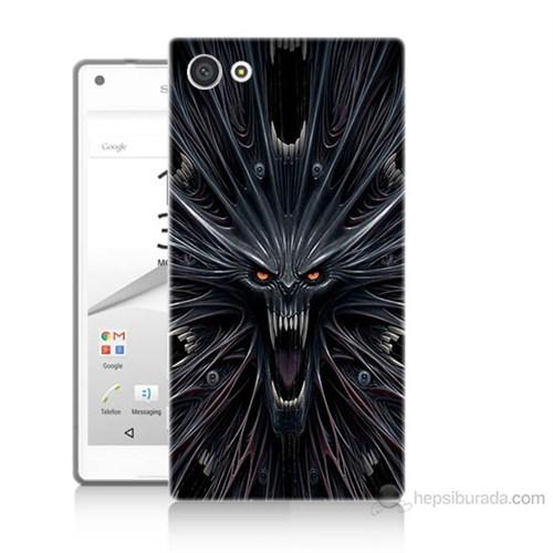 Teknomeg Sony Xperia Z5 Korku Canavarı Baskılı Silikon Kılıf