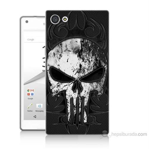 Teknomeg Sony Xperia Z5 Punnisher Kurukafa Baskılı Silikon Kılıf