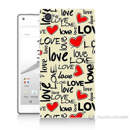 Teknomeg Sony Xperia Z5 Mini Love Baskılı Silikon Kılıf
